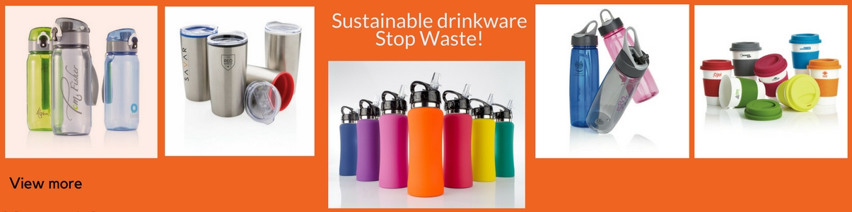 Sustainable Coffee Cups and Water Bottles