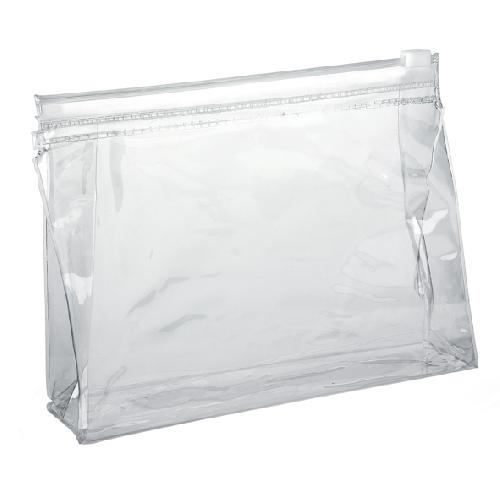 Clear Slide Zipper PVC Taller Bag (NEW) 170 x 140 x 40mm