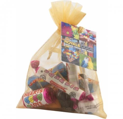 Large Organza Bag with Retro Sweets