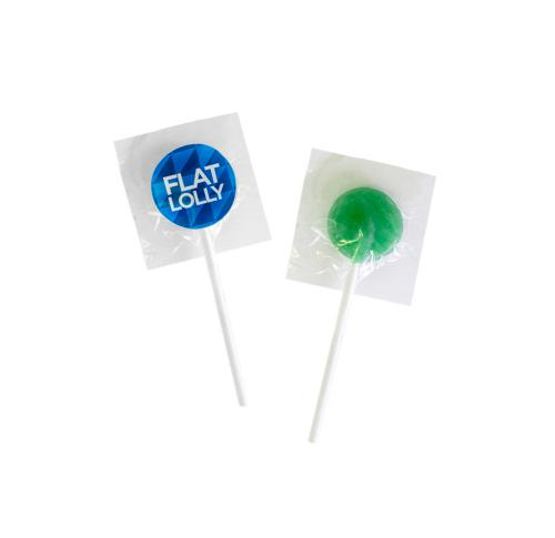 Printed Logo Flat Lolly