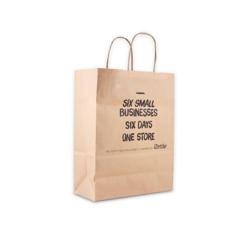 Green & Good A4 Kraft Paper Bag Full Colour - recycled Paper