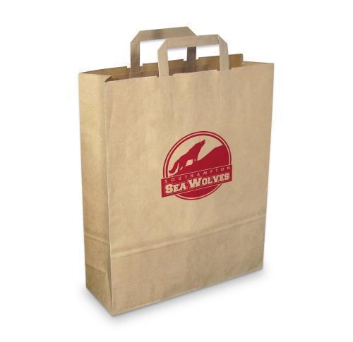 Branded Promotional Eco Green & Good Paper Carrier Bag Large - Recycled Paper