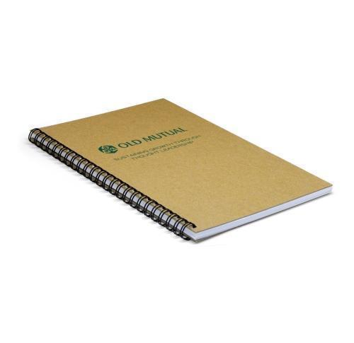 Green & Good A4 Wirebound Natural Board Notebook - recycled