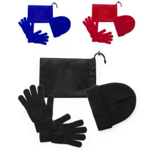 Gloves and Hat in Carry Pouch