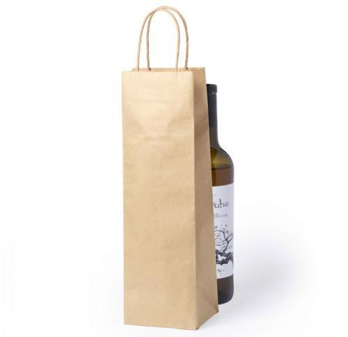 Recycled Brown Paper Wine Bag