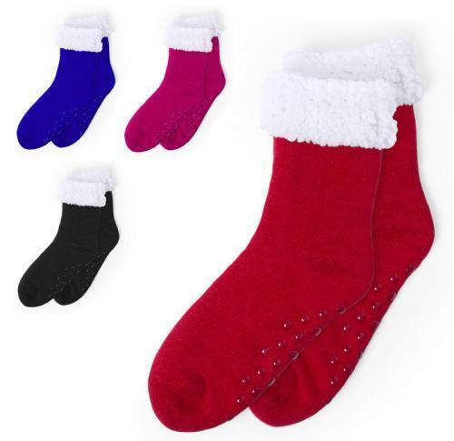 Polyester Bed Sock Cosy Fleece Lining Non Slip Soles