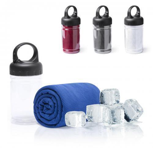 Gym Towel in Screw Top Plastic Container