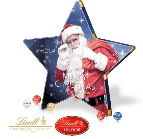 Bespoke Promotional Lindt Star Shaped Advent Calendar