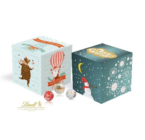 Custom Printed Lindt Chocolate Advent Calendar Cube