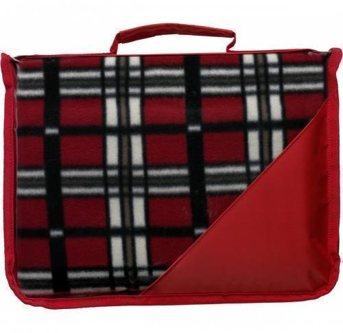 Printed Tartan Plastic Backed Fleece Blanket