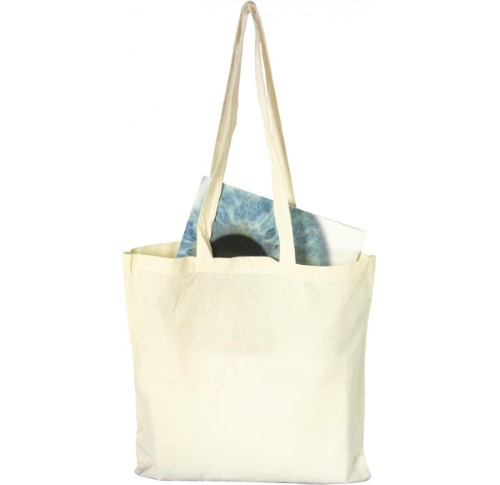 Bag with long handles- Natural
