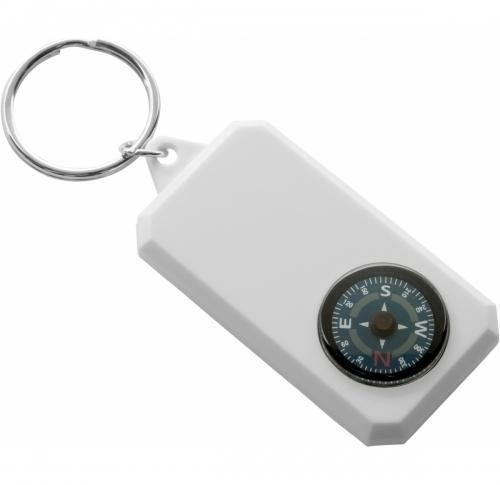 Plastic key holder compass