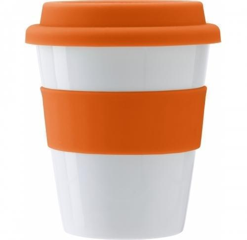 Takeaway Mug with Sipper Lid & Silicone Band 356ml