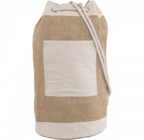 Jute duffel bag