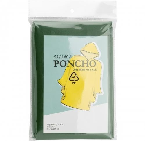 Poncho with hood- Open size approximately 100x120 cms