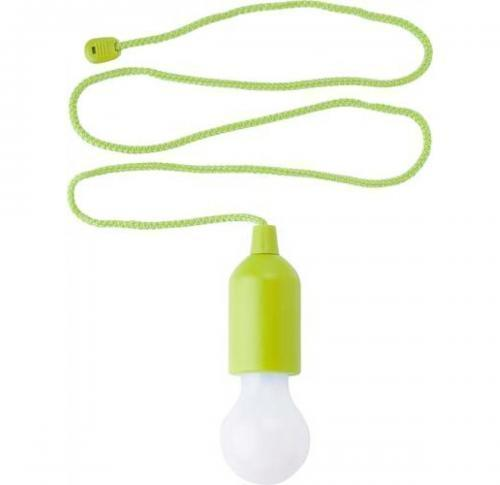 Plastic pull lamp with a 1W- white LED light