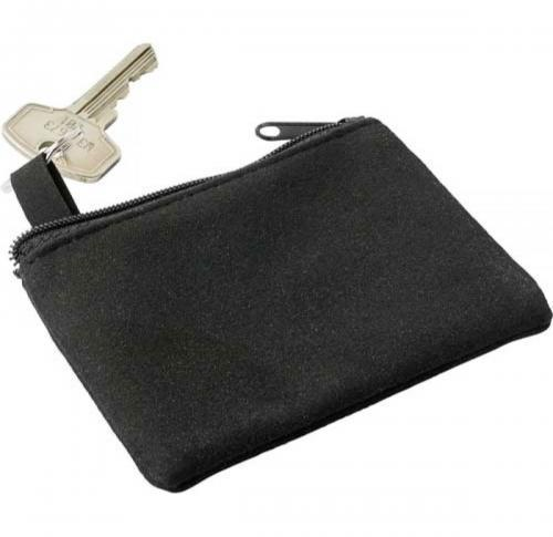 Polyester zipped key wallet.