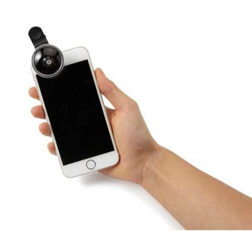 Set of two lenses for mobile phones.