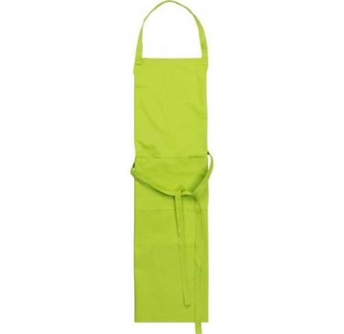 Tetron cotton apron with two front pockets.