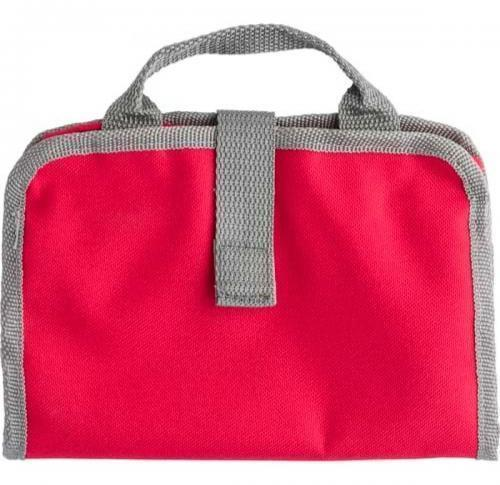 Toilet bag made from 190T/600D polyester.