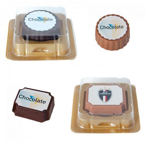 Single Logo Chocolate Blister Pack