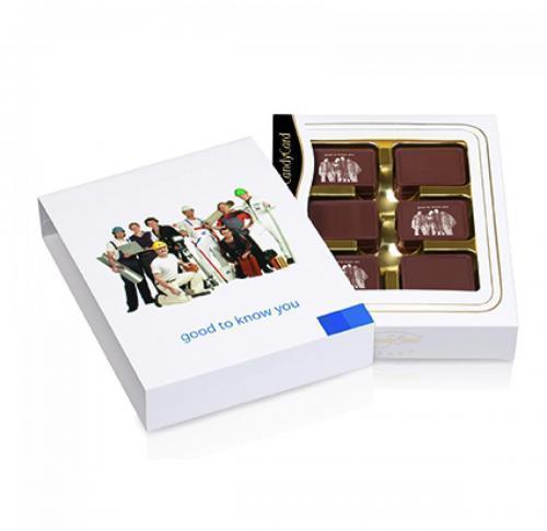 12 Personalised Belgian Chocolates in Gift Box