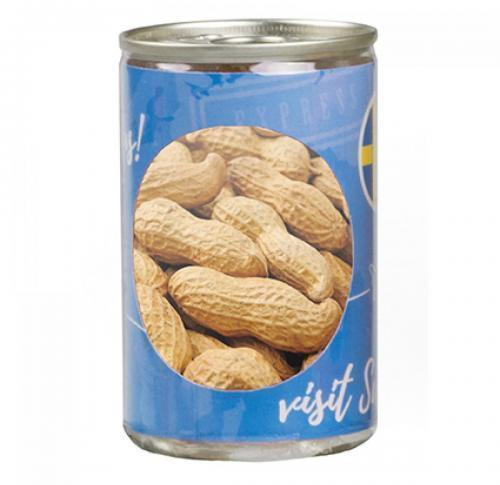 Promotional ring pull can filled with peanuts