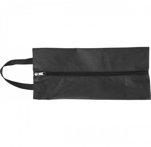 Non-woven (80g/m2) shoe bag- extendable up to 12 cm on each side- with zip