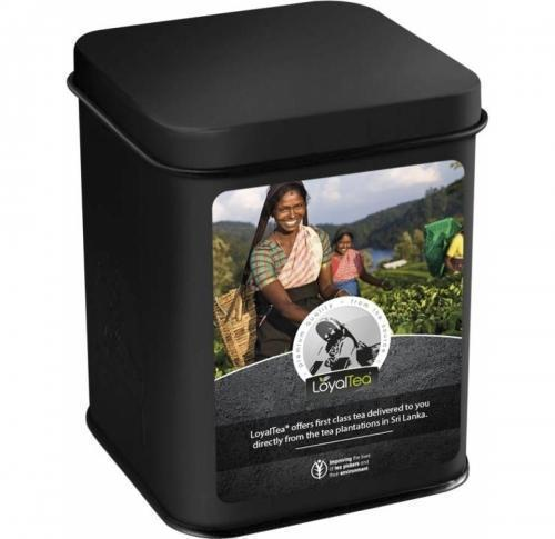 LoyalTea® Can Gift- In A Matt Coloured Tin Can Including Twelve Foil Tea Bags
