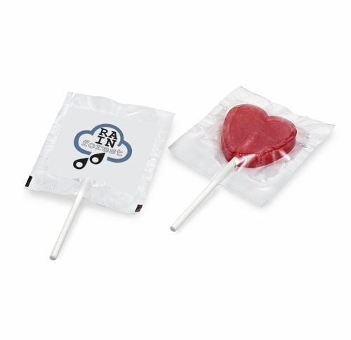 Flat round or heart shaped lollipop (9g)