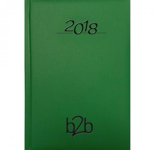 Foil Blocked A5 Desk Diary 2018 Padded Cover Nero