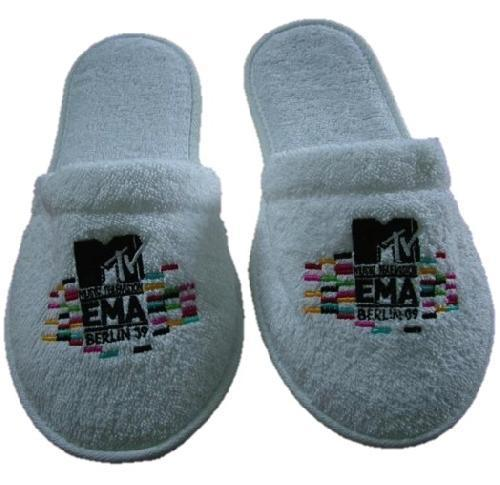 d6d27c1a8 Closed Toe Towelling Spa   Hotel Slippers Embroidered ...