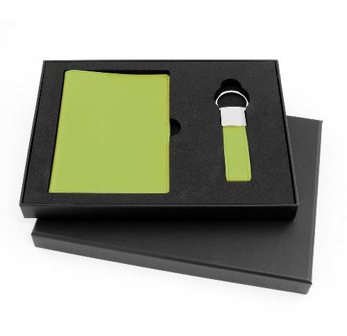 Passport Wallet & Key Fob Faux Leather Gift Boxed