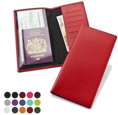 Travel Wallet with one clear pocket and one material pocket with card slots