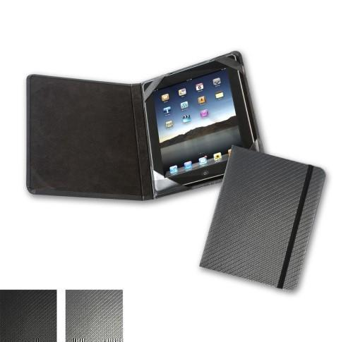 Carbon Fibre Texture  Notebook Style iPad or Tablet Case