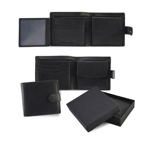 Wallet with a Strap and Coin Compartment