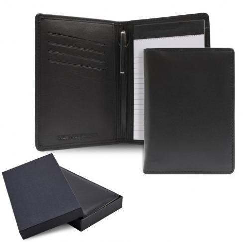 Sandringham Nappa Leather Notepad Jotter With Pen