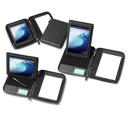 Mini Zipped Adjustable Tablet Holder with a Multi Position Tablet Stand