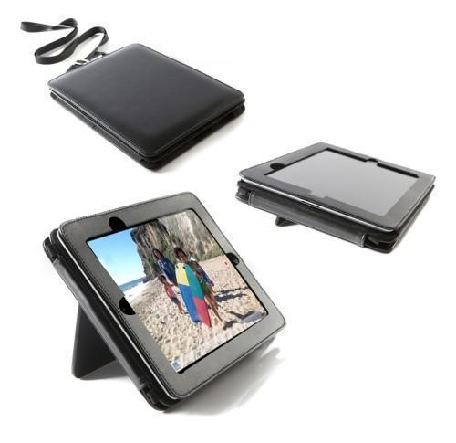 Leather iPad case- with stand dual position stand