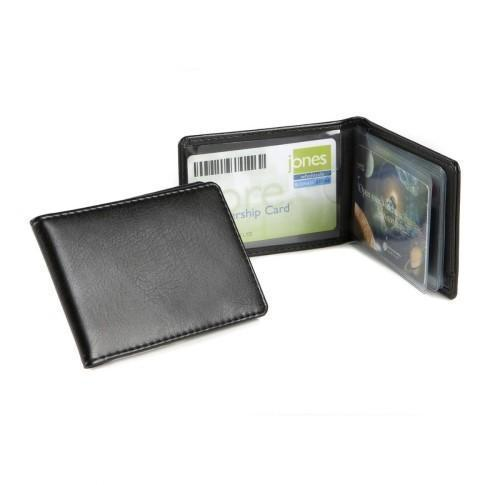 Credit / Oyster Card Case For 6-8 Cards Soft Touch Black PU