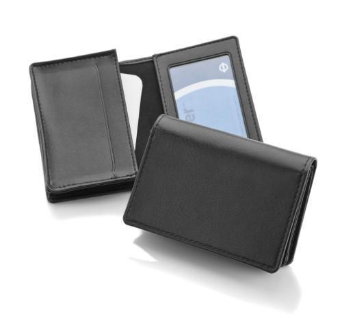Deluxe Business Card Dispenser with Framed Window Pocket
