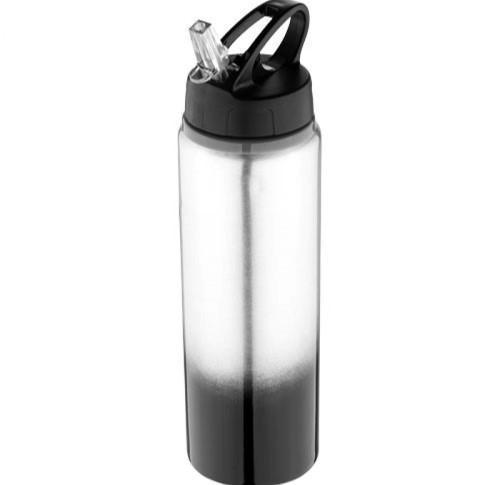Aluminium Water Gradient Sports Water Bottle 740ml With Straw