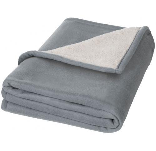 Luxury Fleece Sherpa Blanket / Throw Springwood Plaid