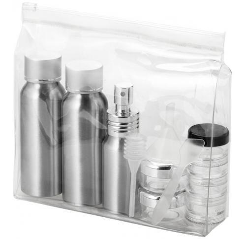 Frankfurt airline approved alu travel bottle set