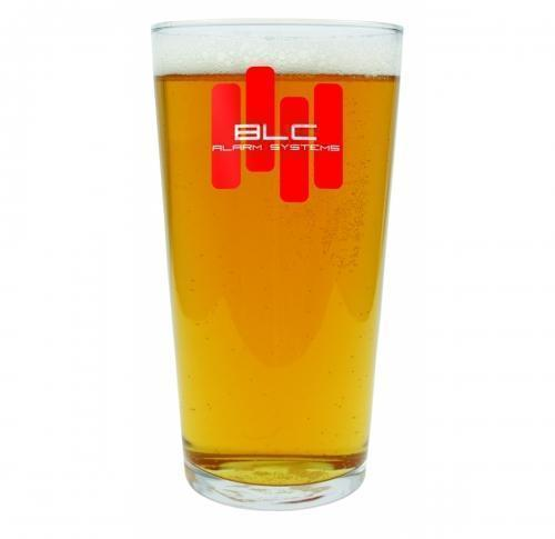 Branded Pint Beer Glass Conique 57cl/201oz